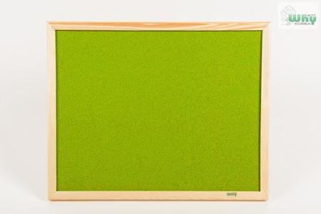 Tablica korkowa barwiona w ramie drewnianej 100x100 cm