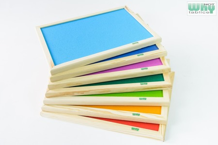 Tablica korkowa barwiona w ramie drewnianej 100x200 cm