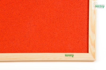 Tablica korkowa barwiona w ramie drewnianej 70x100 cm