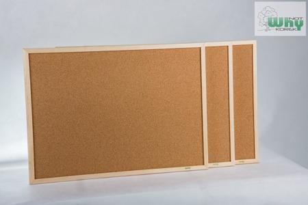 Tablica korkowa w ramie drewnianej 100x240 cm