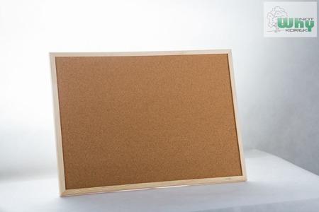 Tablica korkowa w ramie drewnianej 120x240 cm