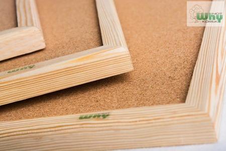 Tablica korkowa w ramie drewnianej 90x100 cm