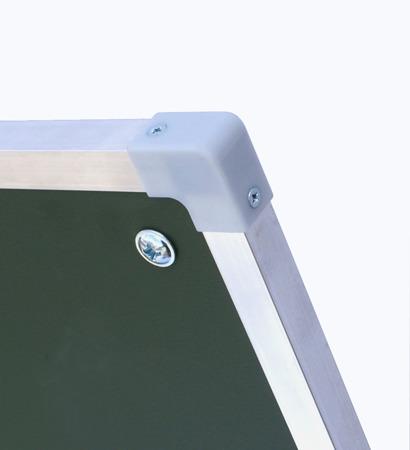 Tablica magnetyczno-suchościeralna w ramie aluminiowej 100x340 cm typu tryptyk biała